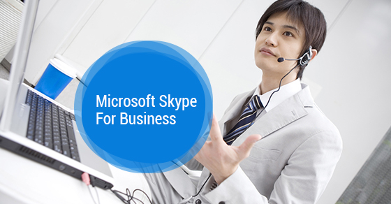 Man using Skype for Business