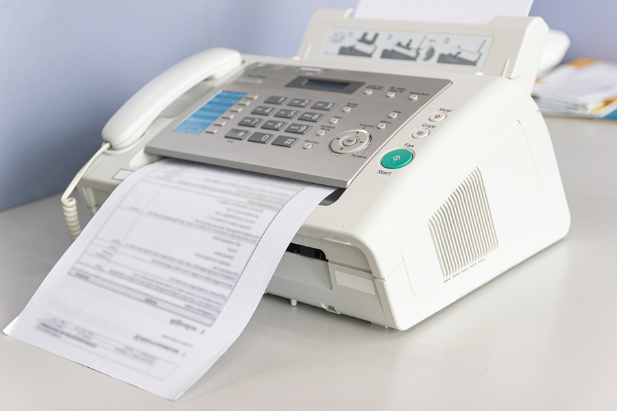 White fax machine