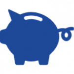 Save Time And Money - Piggy Bank Icon