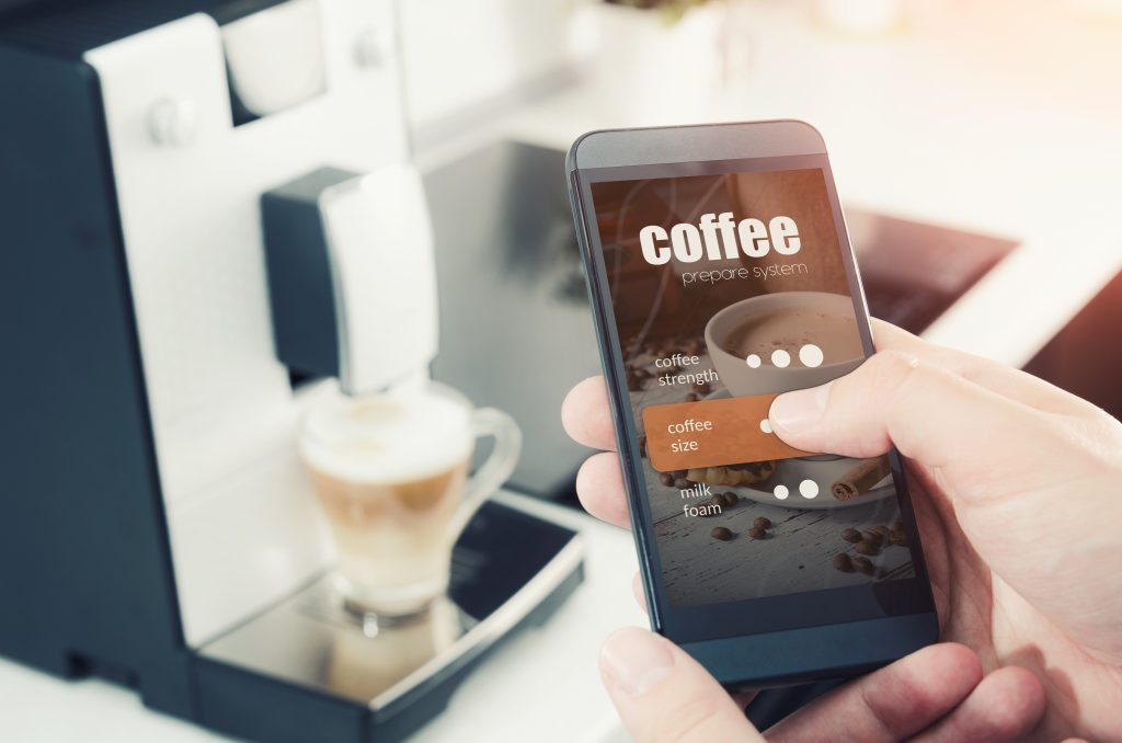 Smart coffee machine and mobile app