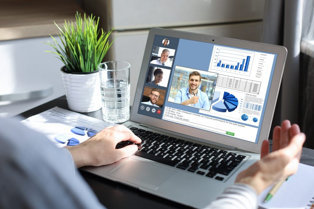 Videoconference with collaboration feature and document sharing